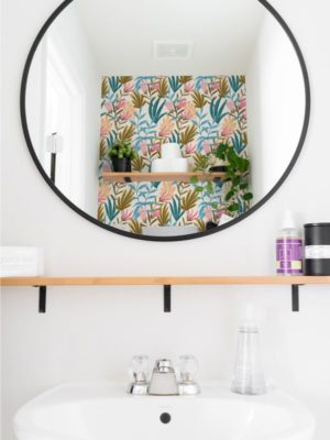 Hello Sticky - Shop - Peel & Stick Removable Wallpaper - Fruity & Floral Wallpaper - Youthful Greenery - Main View