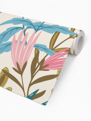 Hello Sticky - Shop - Peel &Amp; Stick Removable Wallpaper - Fruity &Amp; Floral Wallpaper - Youthful Greenery - Roll 2 View
