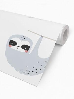 Hello Sticky - Shop - Peel &Amp; Stick Removable Wallpaper - Kids Wallpaper - Sleepy Sloth - Roll 2 View