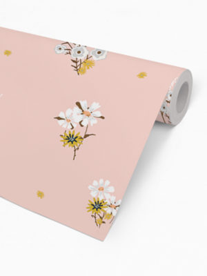 Hello Sticky - Shop - Peel &Amp; Stick Removable Wallpaper - Fruity &Amp; Floral Wallpaper - Perfectly Pink - Roll 2 View