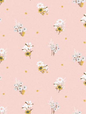 Hello Sticky - Shop - Peel &Amp; Stick Removable Wallpaper - Fruity &Amp; Floral Wallpaper - Perfectly Pink - Zoomed In View