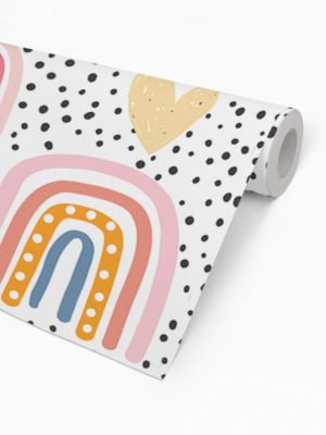 Hello Sticky - Shop - Peel &Amp; Stick Removable Wallpaper - Kids Wallpaper - Follow The Rainbow - Roll 2 View