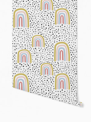 Hello Sticky - Shop - Peel &Amp; Stick Removable Wallpaper - Kids Wallpaper - Radical Rainbows - Roll 1 View