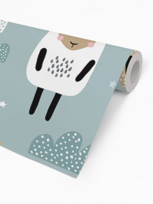 Hello Sticky - Shop - Peel &Amp; Stick Removable Wallpaper - Kids Wallpaper - Sleepy Sheep - Roll 2 View
