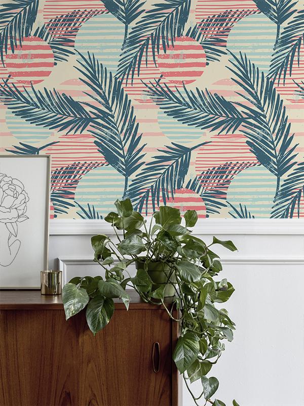 Hello Sticky - Shop - Peel &Amp;Amp; Stick Removable Wallpaper - Kids Wallpaper - Surf Pop - Main View