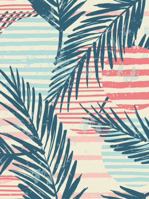 Hello Sticky - Shop - Peel &Amp; Stick Removable Wallpaper - Kids Wallpaper - Surf Pop - Zoomed In View