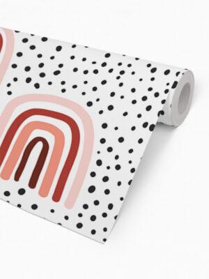 Hello Sticky - Shop - Peel &Amp; Stick Removable Wallpaper - Kids Wallpaper - Terracotta Rainbows - Roll 2 View