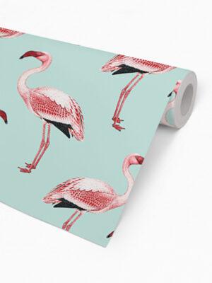 Hello Sticky - Shop - Peel &Amp; Stick Removable Wallpaper - Urban Jungle Wallpaper - Fantastically Flamingos - Roll 2 View