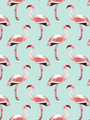 Hello Sticky - Shop - Peel &Amp; Stick Removable Wallpaper - Urban Jungle Wallpaper - Fantastically Flamingos - Zoomed In View
