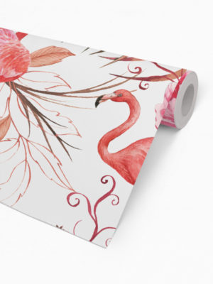 Hello Sticky - Shop - Peel &Amp; Stick Removable Wallpaper - Urban Jungle Wallpaper - Flamingos - Roll 2 View
