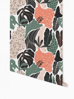Hello Sticky - Shop - Peel &Amp; Stick Removable Wallpaper - Urban Jungle Wallpaper - Modern Palms - Roll 1 View