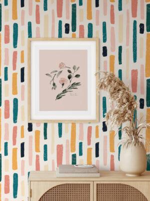 Hello Sticky - Shop - Peel & Stick Removable Wallpaper - Stripe, Spot & Dot Wallpaper - Marker Magic - Main View