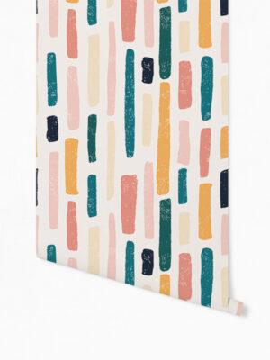 Hello Sticky - Shop - Peel &Amp; Stick Removable Wallpaper - Stripe, Spot &Amp; Dot Wallpaper - Marker Magic - Roll 1 View