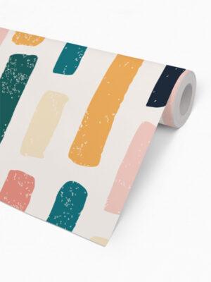 Hello Sticky - Shop - Peel &Amp; Stick Removable Wallpaper - Stripe, Spot &Amp; Dot Wallpaper - Marker Magic - Roll 2 View