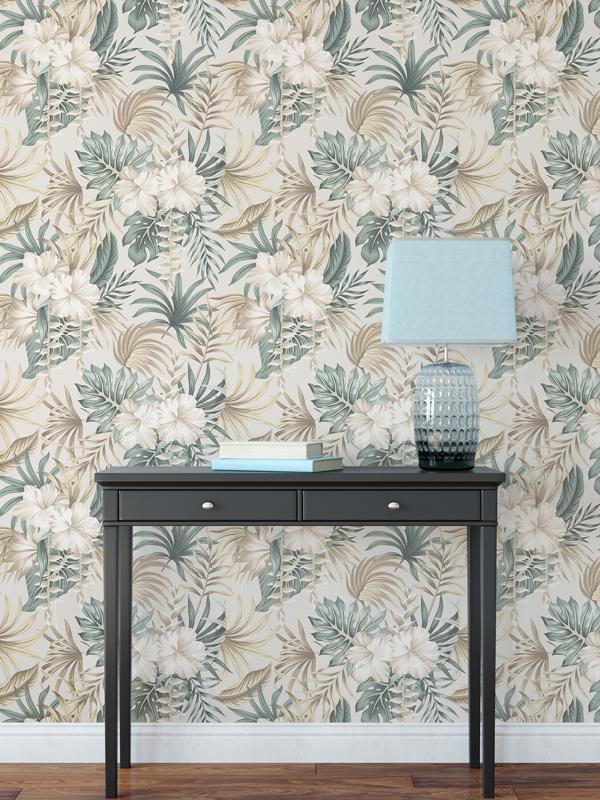 Hello Sticky - Shop - Peel &Amp;Amp; Stick Removable Wallpaper - Urban Jungle Wallpaper - Desert Palms - Main View