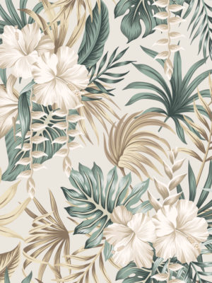 Hello Sticky - Shop - Peel &Amp; Stick Removable Wallpaper - Urban Jungle Wallpaper - Desert Palms - Zoomed In View