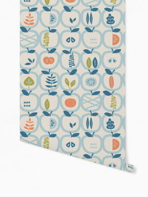 Hello Sticky - Shop - Peel &Amp; Stick Removable Wallpaper - Fruity &Amp; Floral Wallpaper - An Apple A Day - Roll 1 View