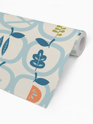 Hello Sticky - Shop - Peel &Amp; Stick Removable Wallpaper - Fruity &Amp; Floral Wallpaper - An Apple A Day - Roll 2 View