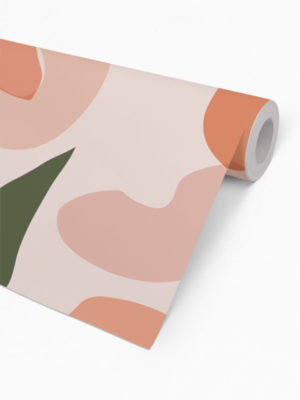 Hello Sticky - Shop - Peel &Amp; Stick Removable Wallpaper - Fruity &Amp; Floral Wallpaper - Pretty As A Peach - Roll 2 View