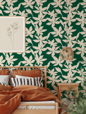 Hello Sticky - Shop - Peel & Stick Removable Wallpaper - Fruity & Floral Wallpaper - Sweet Pea - Main View