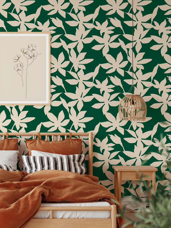 Hello Sticky - Shop - Peel &Amp;Amp; Stick Removable Wallpaper - Fruity &Amp;Amp; Floral Wallpaper - Sweet Pea - Main View