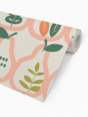 Hello Sticky - Shop - Peel &Amp; Stick Removable Wallpaper - Fruity &Amp; Floral Wallpaper - Vintage Pears - Roll 2 View