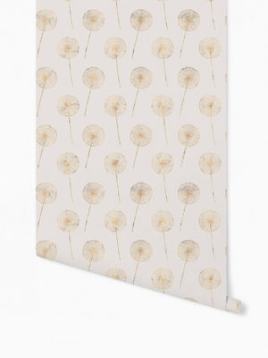 Hello Sticky - Shop - Peel &Amp; Stick Removable Wallpaper - Fruity &Amp; Floral Wallpaper - Whimsical Dandelion - Roll 1 View