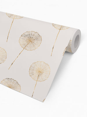 Hello Sticky - Shop - Peel &Amp; Stick Removable Wallpaper - Fruity &Amp; Floral Wallpaper - Whimsical Dandelion - Roll 2 View