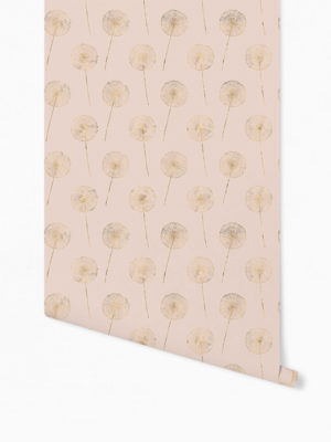 Hello Sticky - Shop - Peel &Amp; Stick Removable Wallpaper - Fruity &Amp; Floral Wallpaper - Whispering Dandelion - Roll 1 View