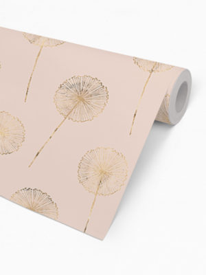 Hello Sticky - Shop - Peel &Amp; Stick Removable Wallpaper - Fruity &Amp; Floral Wallpaper - Whispering Dandelion - Roll 2 View