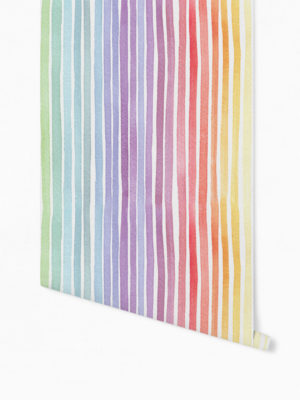 Hello Sticky - Shop - Peel &Amp; Stick Removable Wallpaper - Kids Wallpaper - Whimsical Rainbow - Roll 1 View