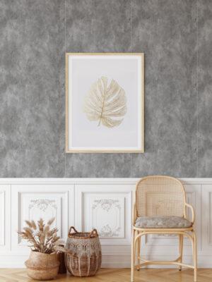 Hello Sticky - Shop - Peel & Stick Removable Wallpaper - Modern Farmhouse Wallpaper - Dark Concrete Slab - Main View