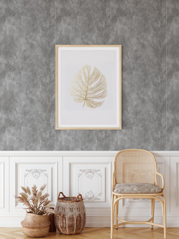 Hello Sticky - Shop - Peel &Amp;Amp; Stick Removable Wallpaper - Modern Farmhouse Wallpaper - Dark Concrete Slab - Main View