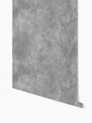 Hello Sticky - Shop - Peel &Amp; Stick Removable Wallpaper - Modern Farmhouse Wallpaper - Dark Concrete Slab - Roll 1 View