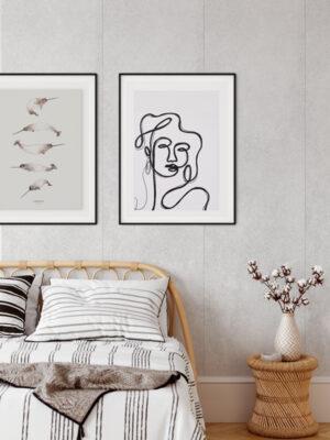 Hello Sticky - Shop - Peel & Stick Removable Wallpaper - Modern Farmhouse Wallpaper - Light Concrete Slab - Main View