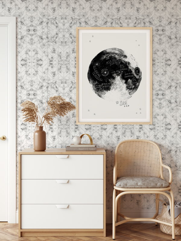Hello Sticky - Shop - Peel &Amp;Amp; Stick Removable Wallpaper - Modern Farmhouse Wallpaper - Marble Herringbone - Main View