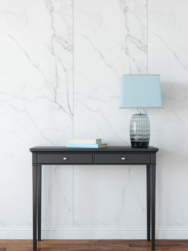 Hello Sticky - Shop - Peel &Amp;Amp; Stick Removable Wallpaper - Modern Farmhouse Wallpaper - Marble Slab - Main View