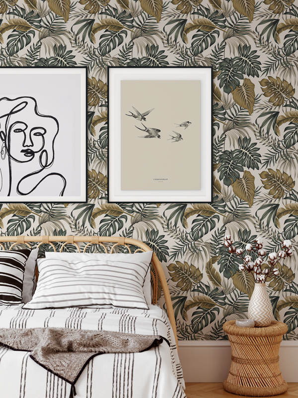 Hello Sticky - Shop - Peel &Amp;Amp; Stick Removable Wallpaper - Urban Jungle Wallpaper - After Dark Palms - Main View
