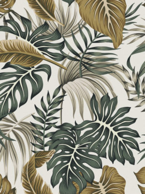Hello Sticky - Shop - Peel &Amp; Stick Removable Wallpaper - Urban Jungle Wallpaper - After Dark Palms - Zoomed In View