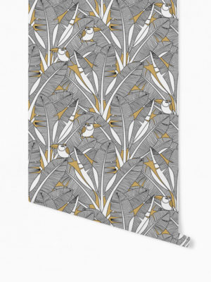 Hello Sticky - Shop - Peel &Amp; Stick Removable Wallpaper - Urban Jungle Wallpaper - Feathered Toucan - Roll 1 View