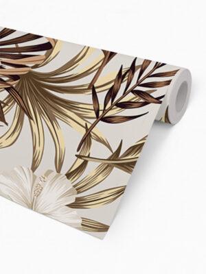 Hello Sticky - Shop - Peel &Amp; Stick Removable Wallpaper - Urban Jungle Wallpaper - Golden Palms - Roll 2 View