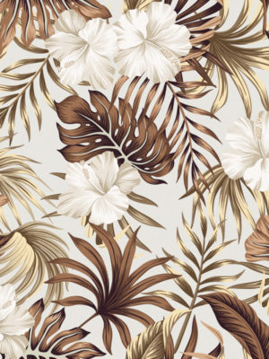 Hello Sticky - Shop - Peel &Amp; Stick Removable Wallpaper - Urban Jungle Wallpaper - Golden Palms - Zoomed In View