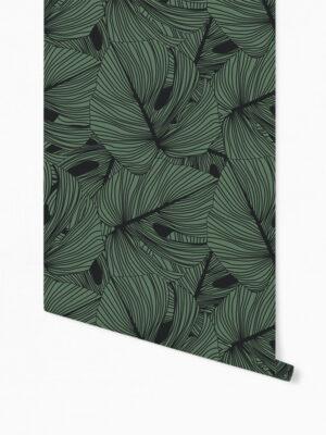 Hello Sticky - Shop - Peel &Amp; Stick Removable Wallpaper - Urban Jungle Wallpaper - Green Thumb - Roll 1 View