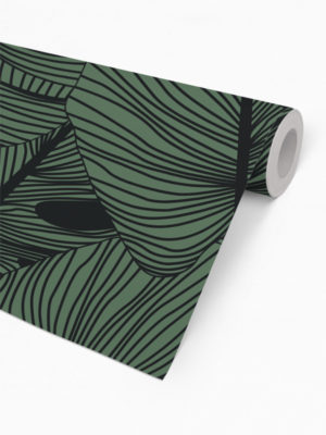 Hello Sticky - Shop - Peel &Amp; Stick Removable Wallpaper - Urban Jungle Wallpaper - Green Thumb - Roll 2 View