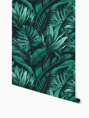 Hello Sticky - Shop - Peel &Amp; Stick Removable Wallpaper - Urban Jungle Wallpaper - Green With Envy - Roll 1 View
