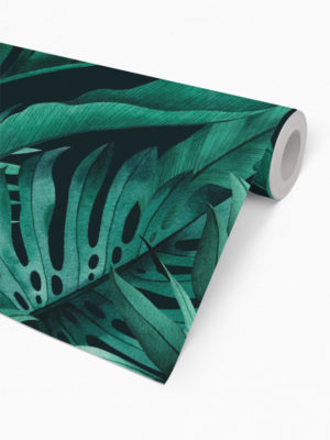 Hello Sticky - Shop - Peel &Amp; Stick Removable Wallpaper - Urban Jungle Wallpaper - Green With Envy - Roll 2 View