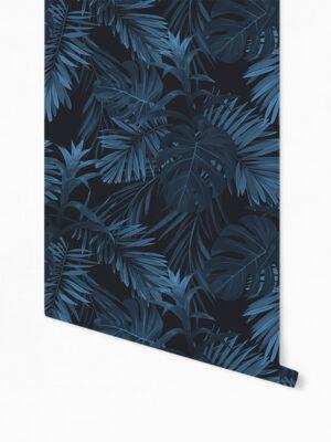 Hello Sticky - Shop - Peel &Amp; Stick Removable Wallpaper - Urban Jungle Wallpaper - Jungle Blues - Roll 1 View