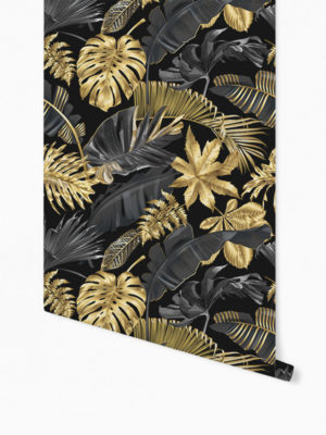 Hello Sticky - Shop - Peel &Amp; Stick Removable Wallpaper - Urban Jungle Wallpaper - Lushish Leaves - Roll 1 View