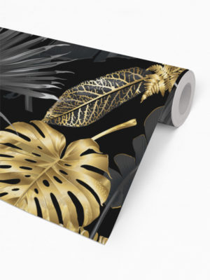 Hello Sticky - Shop - Peel &Amp; Stick Removable Wallpaper - Urban Jungle Wallpaper - Lushish Leaves - Roll 2 View