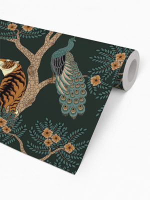 Hello Sticky - Shop - Peel &Amp; Stick Removable Wallpaper - Urban Jungle Wallpaper - Nice Kitty - Roll 2 View